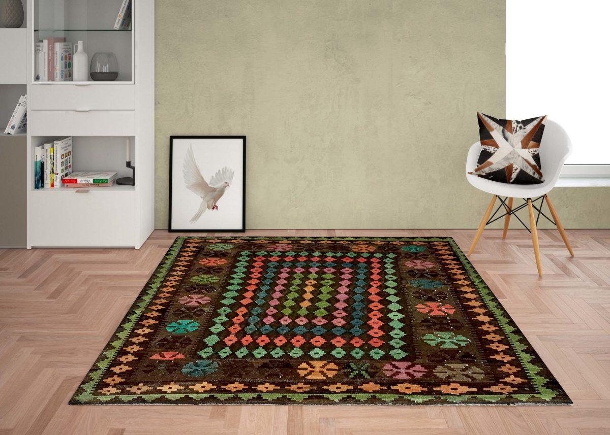 kilim colorfull handwoven rug