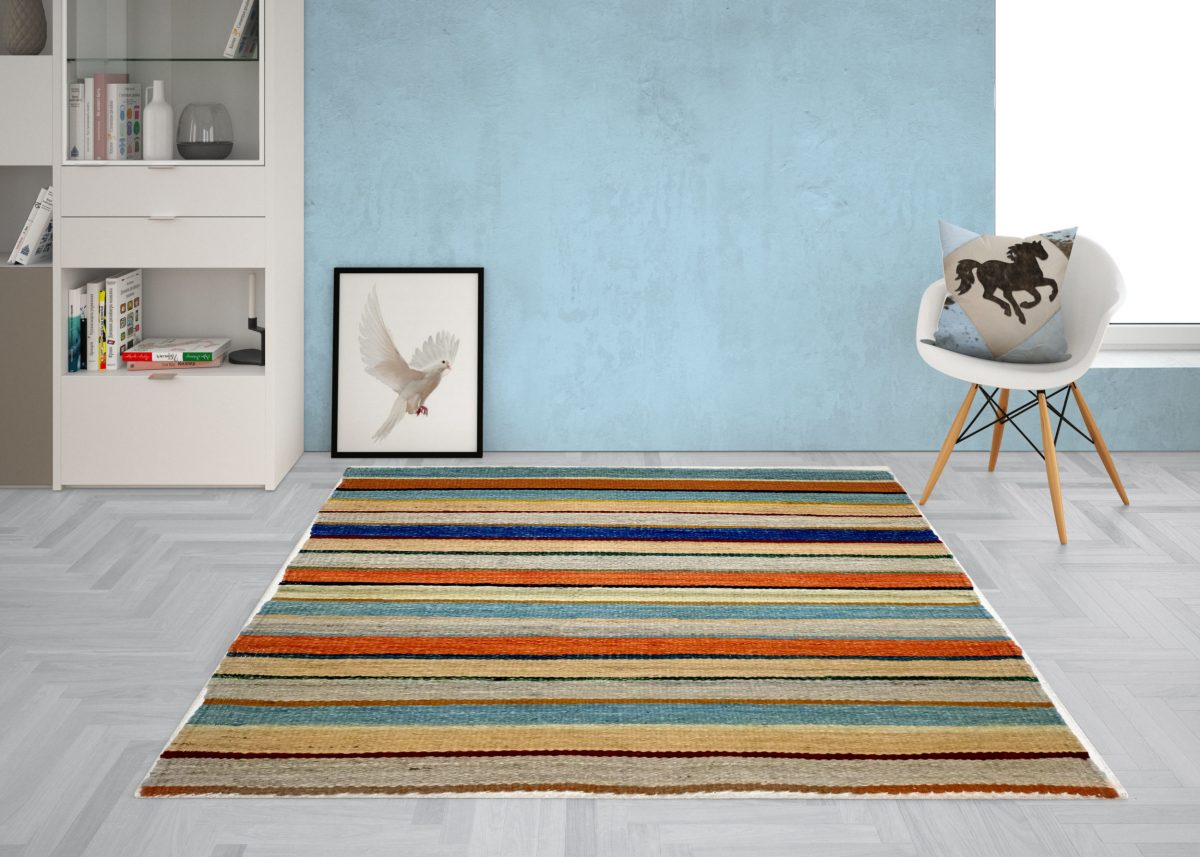 Kilim multi-line rug