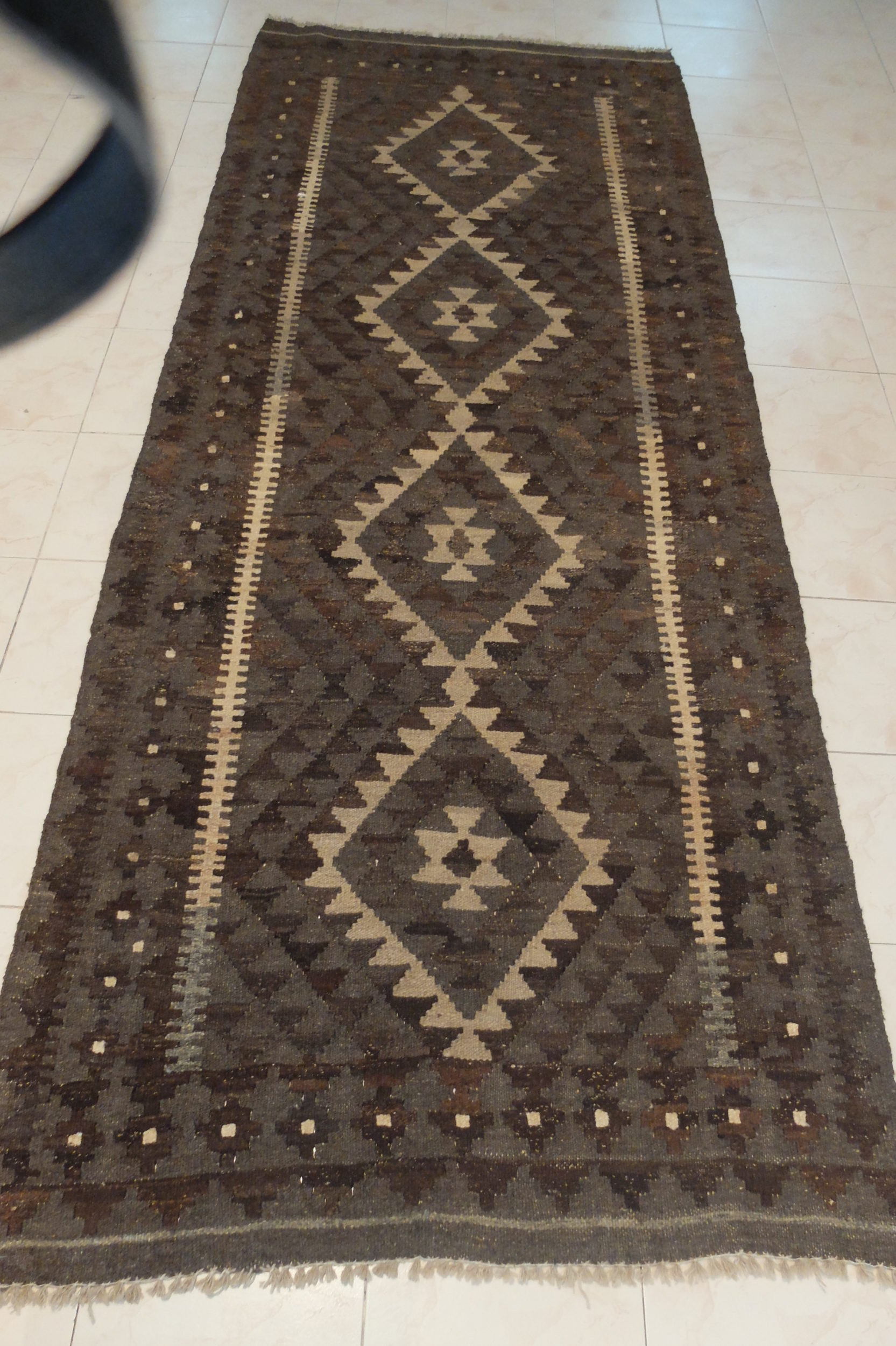 Neutral kilim Runner