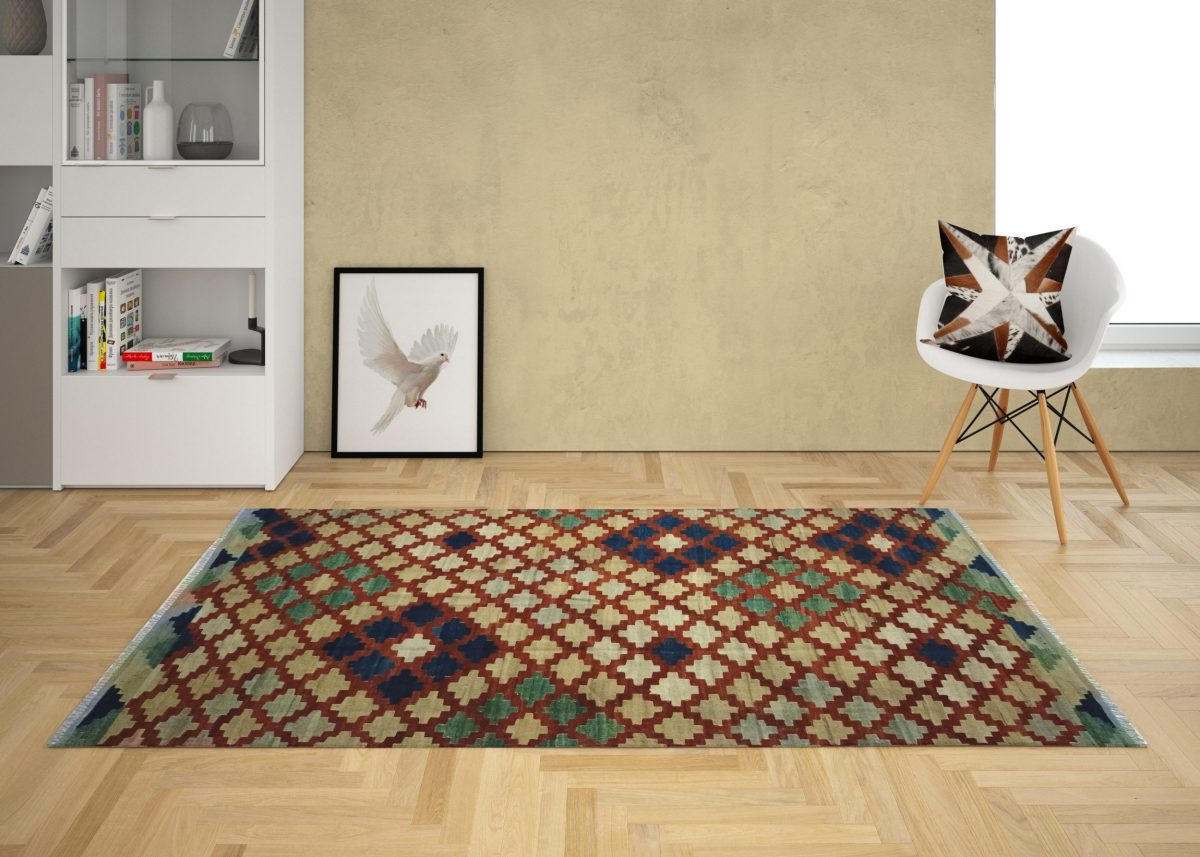 afghan unique style colored kilim