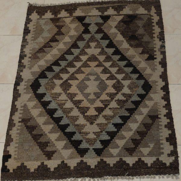 black beige kilim mat