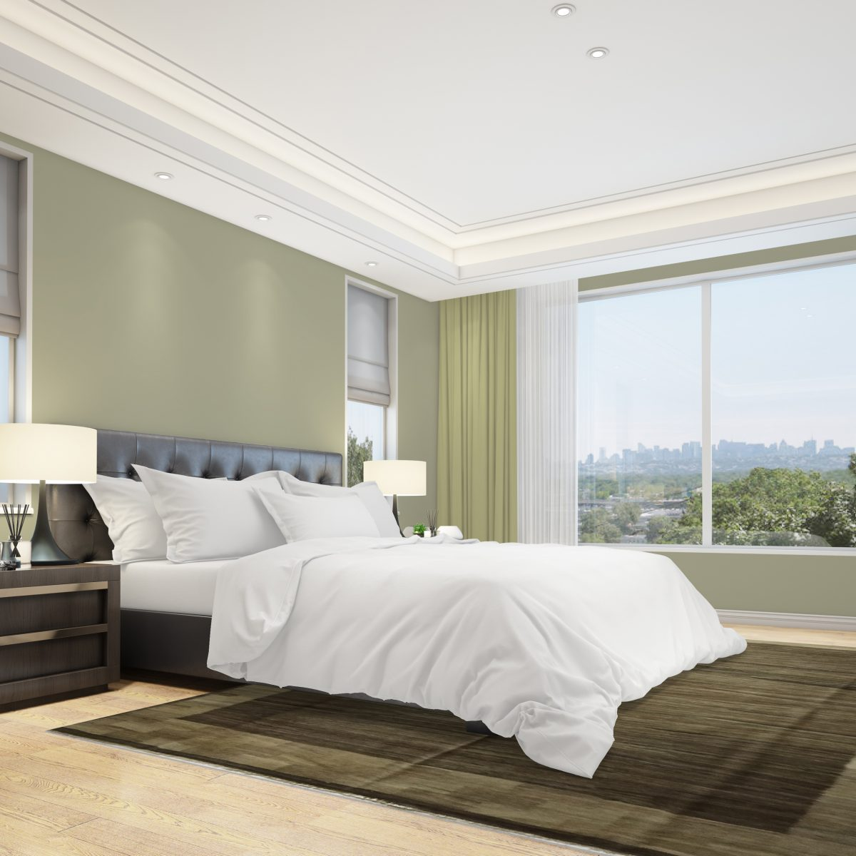 brun sovrum kilim