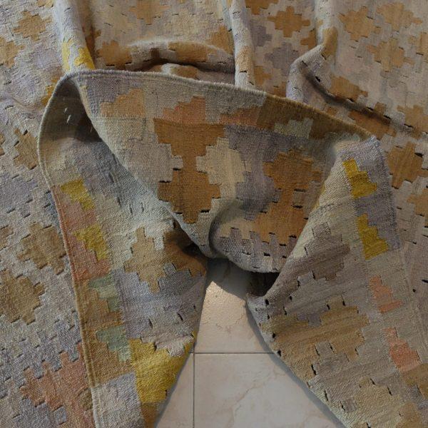 greyish yellow oriental kilim