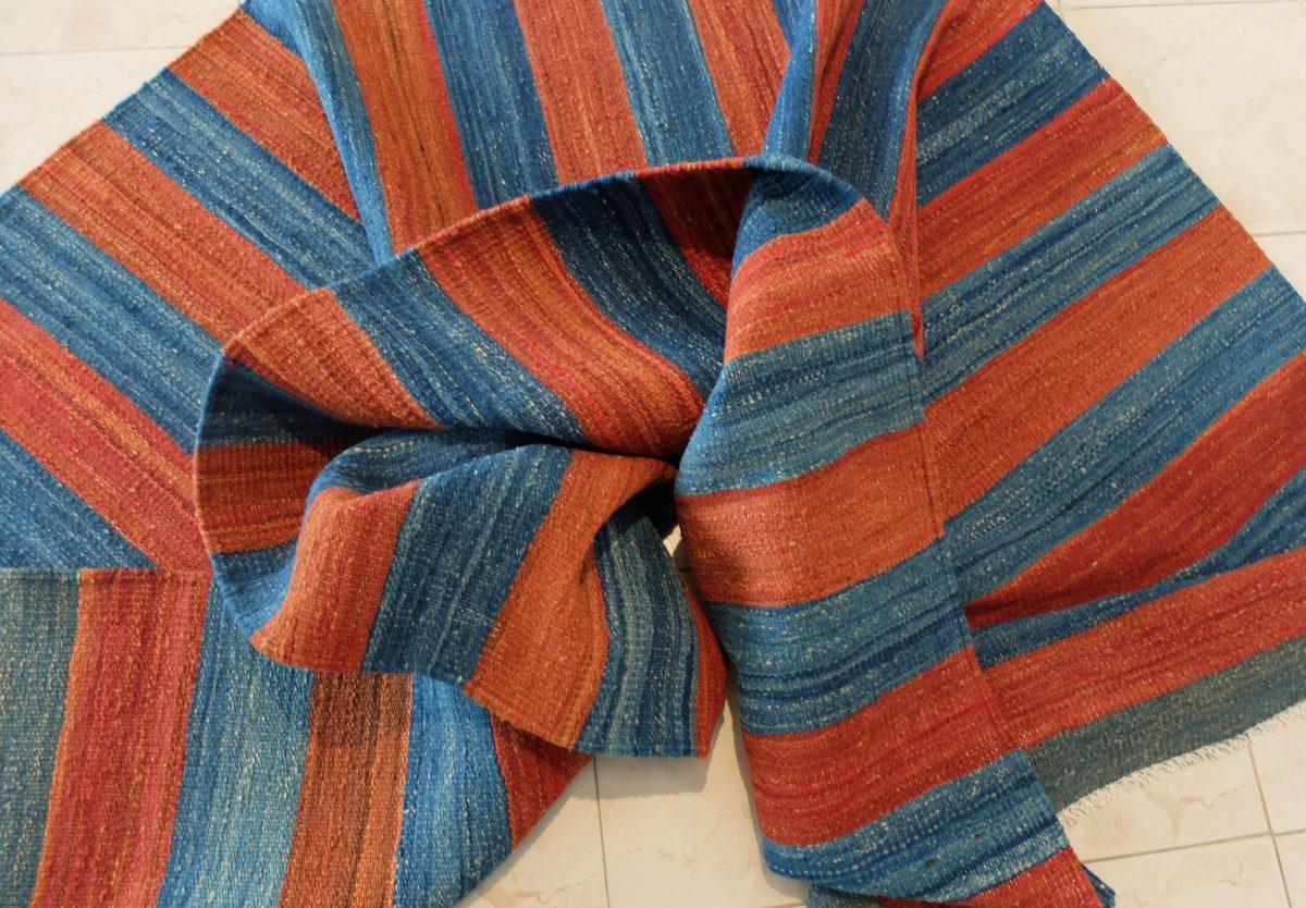 red blue kilim runner