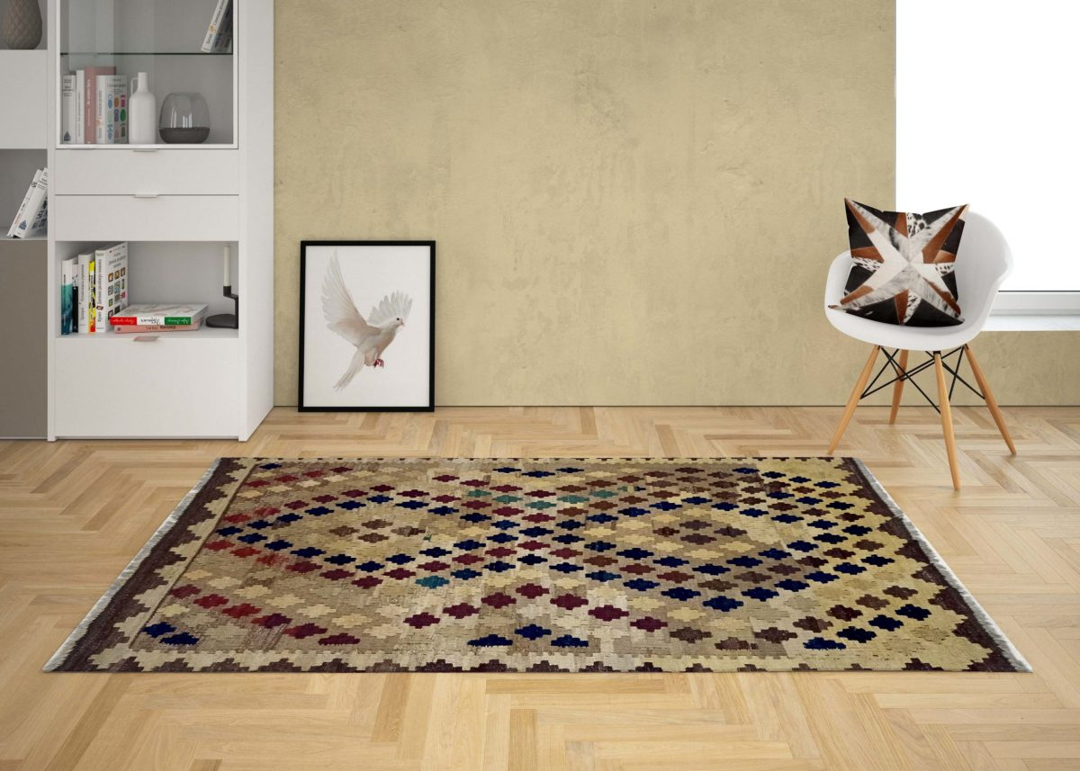 red brown kilim