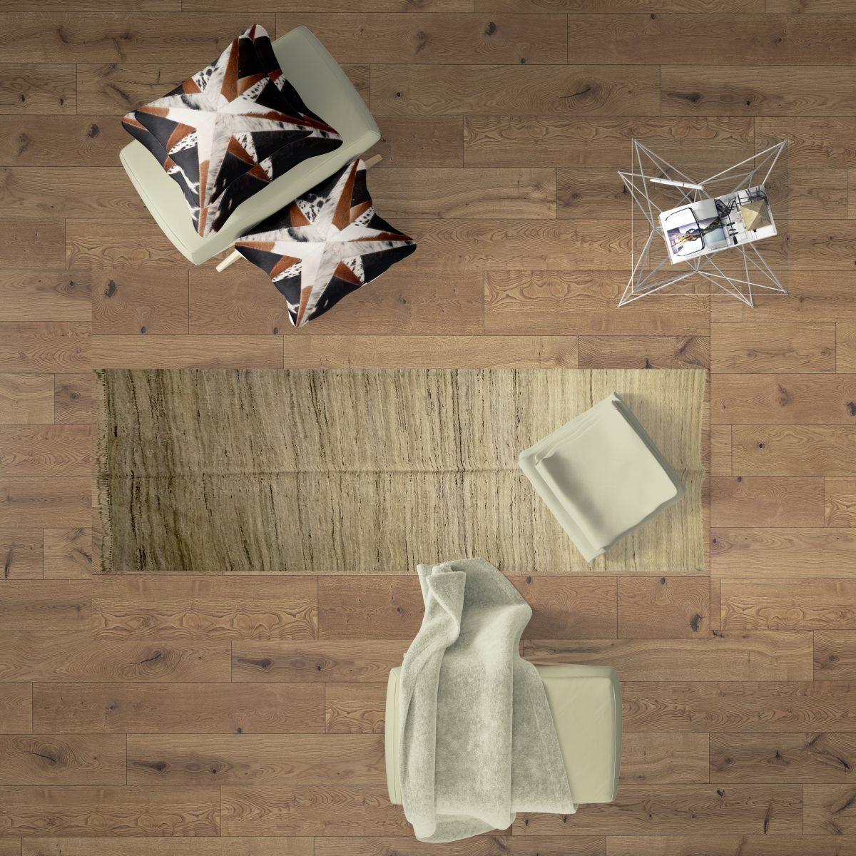 small faded kilim rug