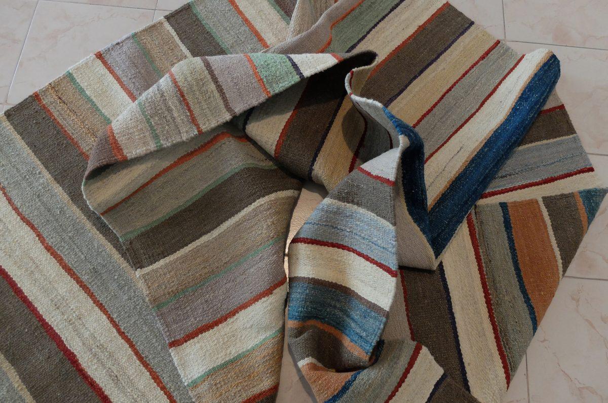 soft colored kilim rug