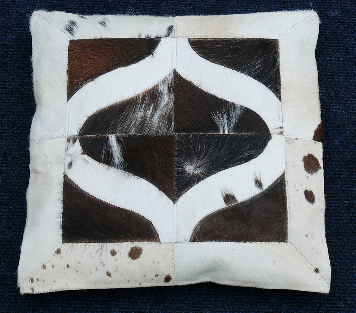 cowhide leather cusion cover