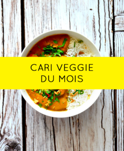 Curry legumes lait de coco