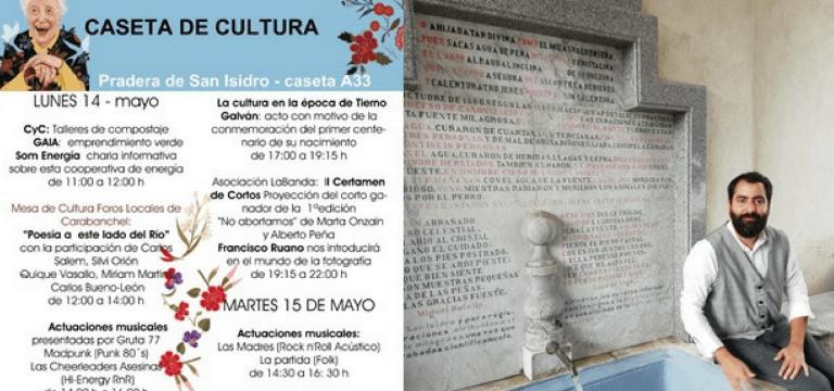 GAIA participa en las fiestas de San Isidro en la caseta cultural de la mesa de la cultura de los foros de Carabanchel