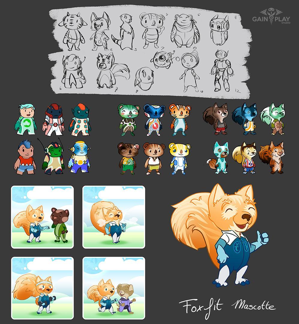 Foxfit Character Design