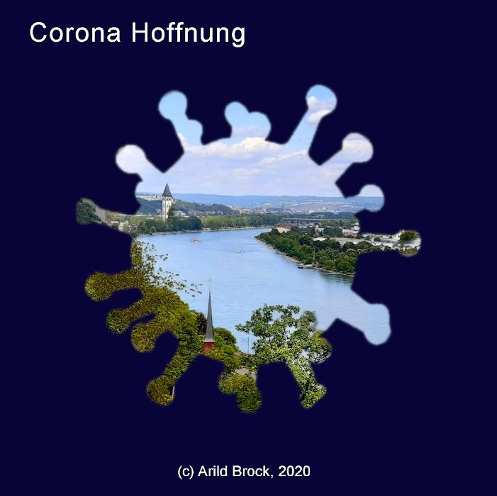 Corona Hoffnung Aufkleber