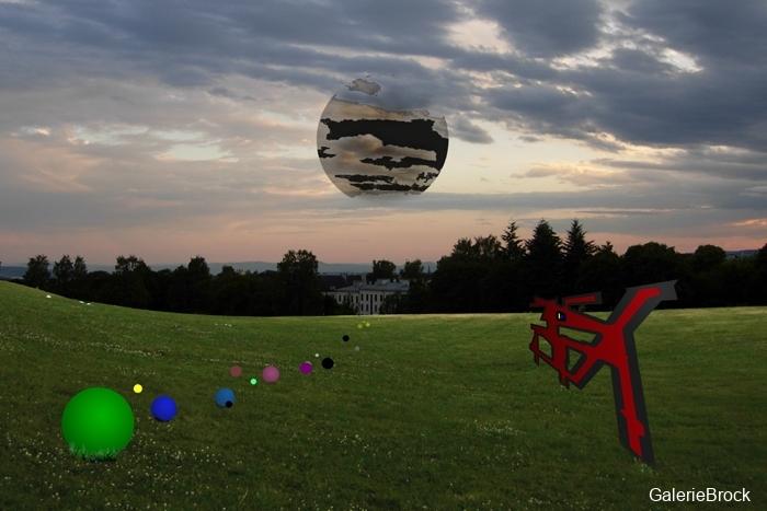 Muntere Seelen unterwegs durch das Gras um die bedrohliche Sonne  zu stören  - die Postmodernität schließt sich an