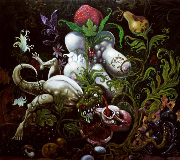 Himojen puutarha, 2003, akryyli ja öljy