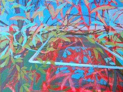 Joël Gangloff - maleri på lærred - 80x80cm