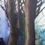 Nr. 4207 - Skovens dyb - 80x100cm - akryl på lærred - kr. 3.500,-