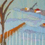 Nr. 2906 - Skovshoved Havn - 40x50cm - vævet i uld - kr. 2.500,-