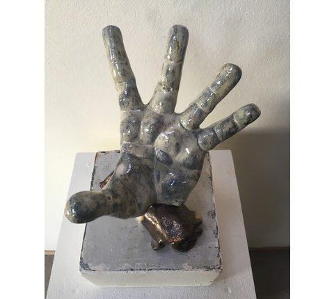 Keramik hænder og fødder i ler