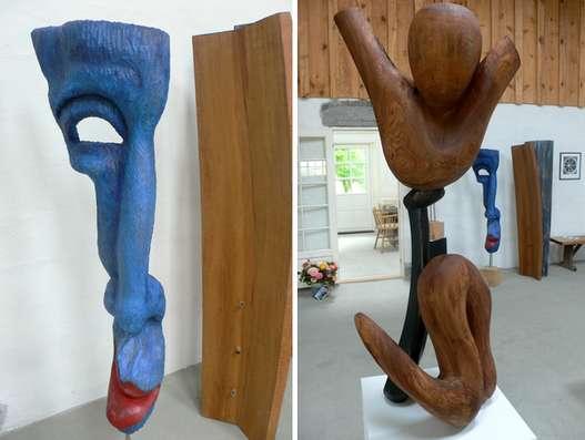 skulpturer i træ og keramik