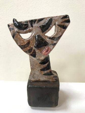 Skulptur keramik Lea Grau