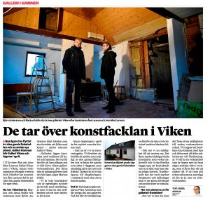 Artikel från Helsingborgsdagblad om renoveringen av Galleri Viken.