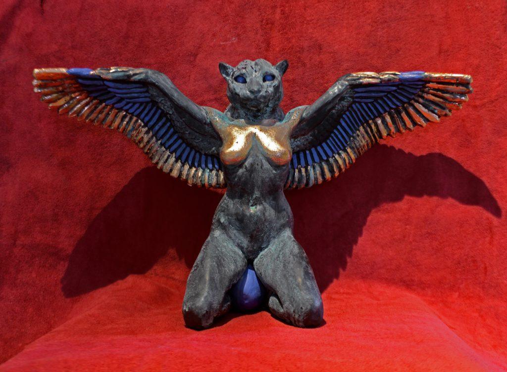 Skulptur av Fågelmänniska