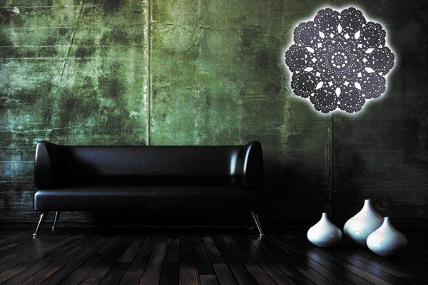 3d Sofa Rendering Leder schwarz