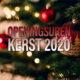 HDV Openingsuren Kerst
