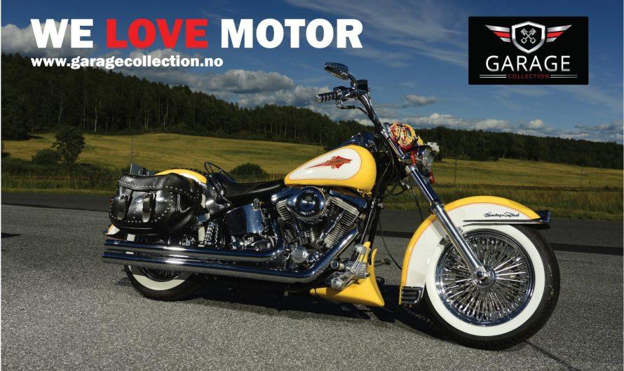 En meget ombygget Softail Custom Harley 89 modell