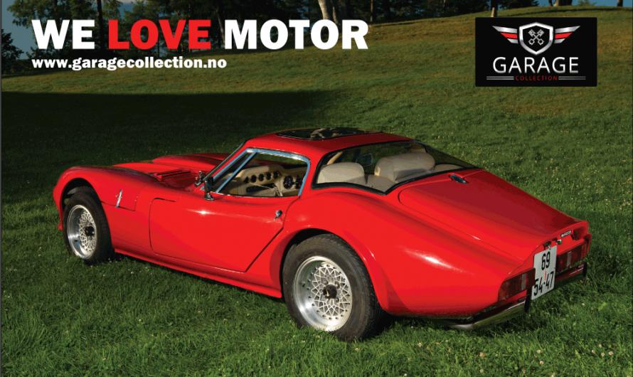Totalrenovert Marcos GT 3.0 fra 1969 med en 150 hk V6 motor