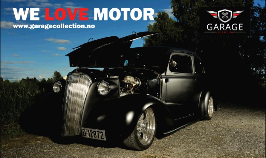 Mattesvarte Roddeline 1937 Chevrolet Master