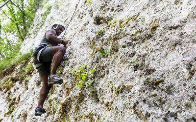 Climbing in the Parco del Battiferro