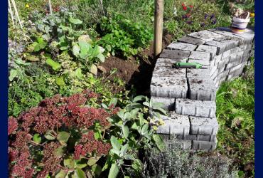 Trockenmauer anlegen und bepflanzen