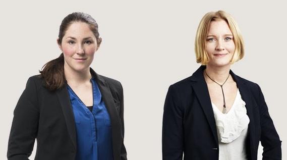 Caroline Sörgjerd och Johanna Rågwall