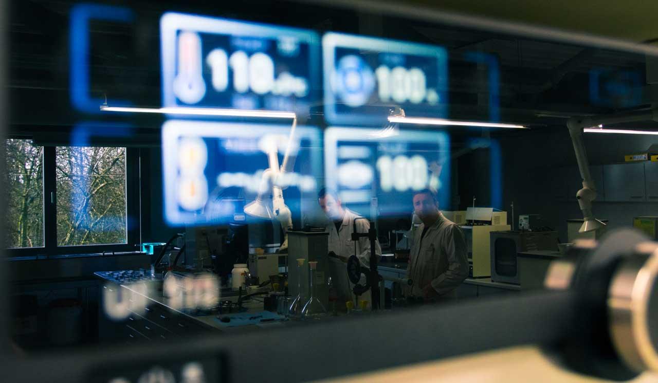 Men in laboratory