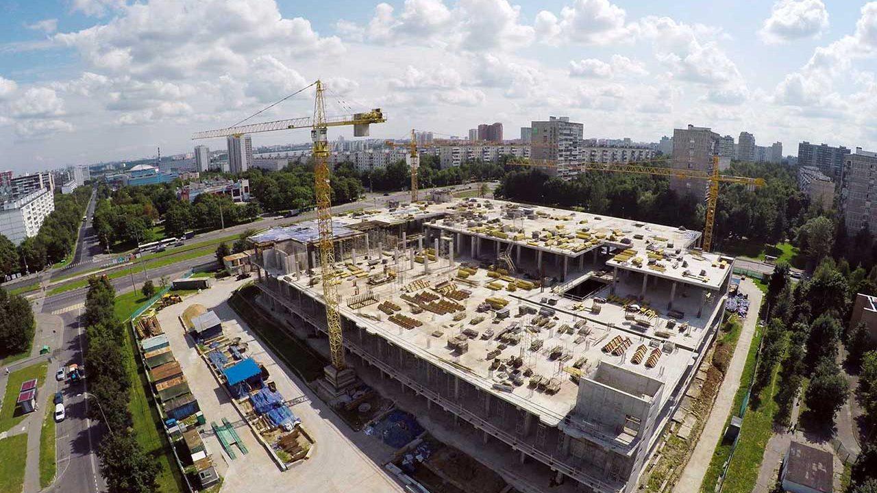Chantier matériaux de construction