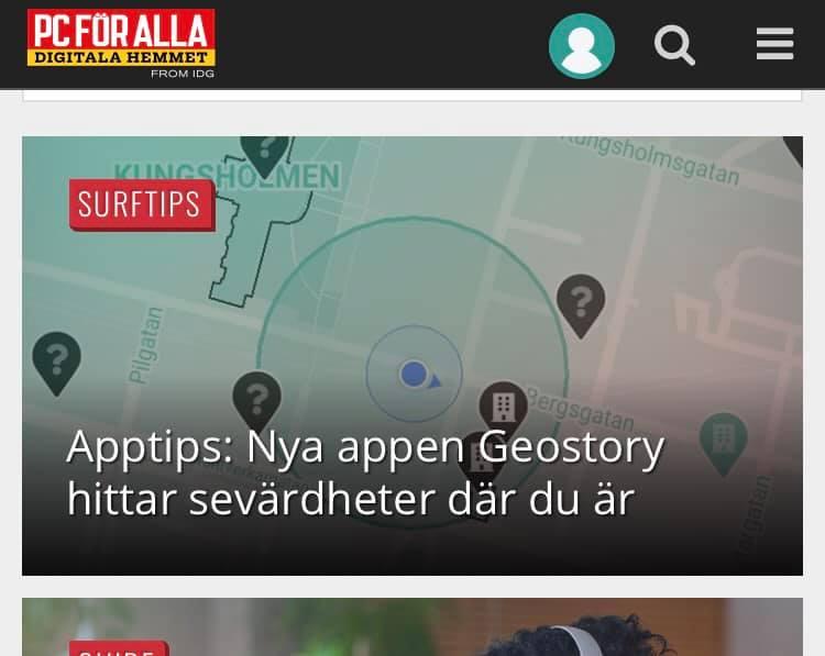 Liknar GeoStory med Pokémon Go