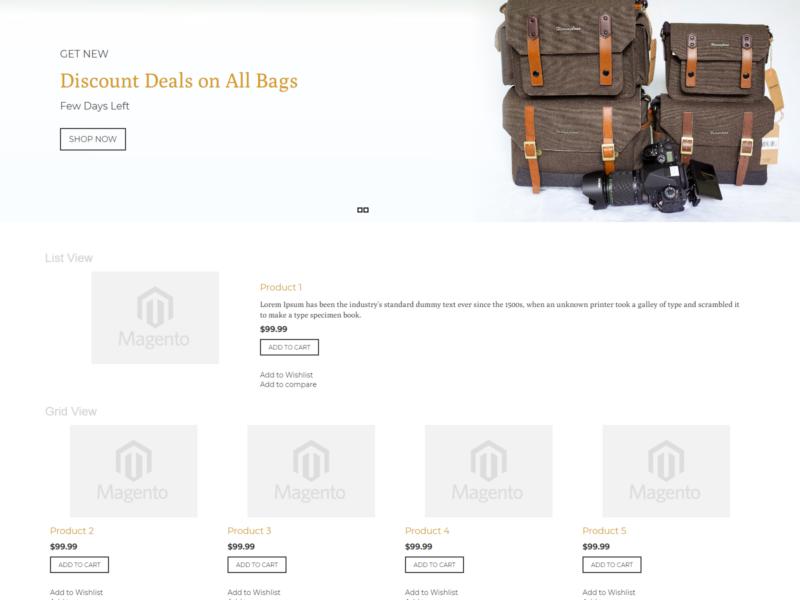 Baggy Magento Webshop Theme