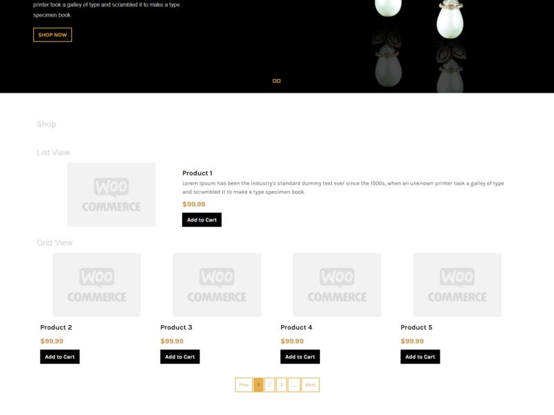 Jewelry Store WooCommerce Webshop Theme
