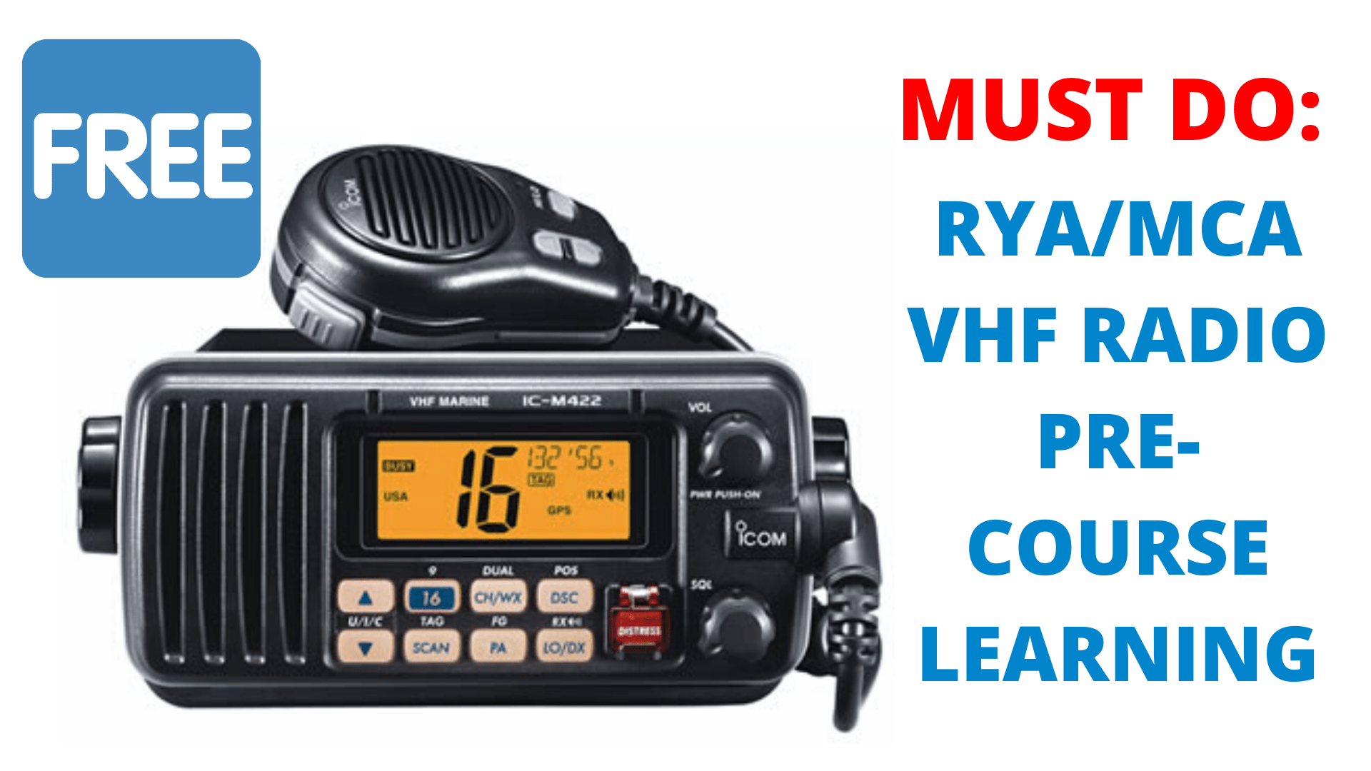 VHF RADIO PRE-COURSE LEARNING