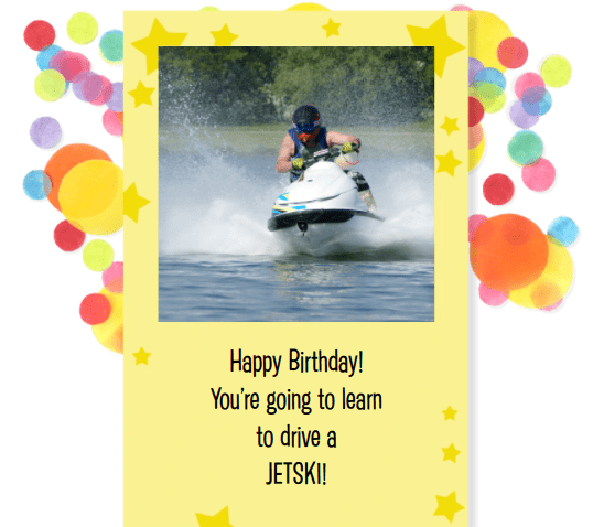 RYA PWC Jetski Birthday Gift Voucher