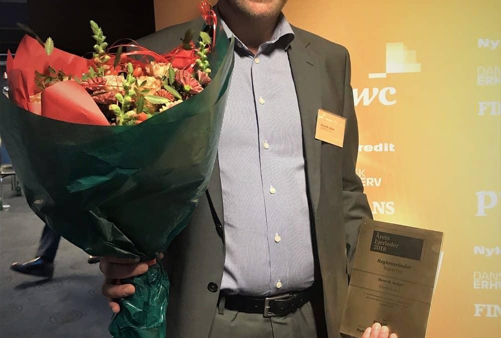 GIBOTECH CEO HENRIK ANKER ÅRETS EJERLEDER PÅ FYN