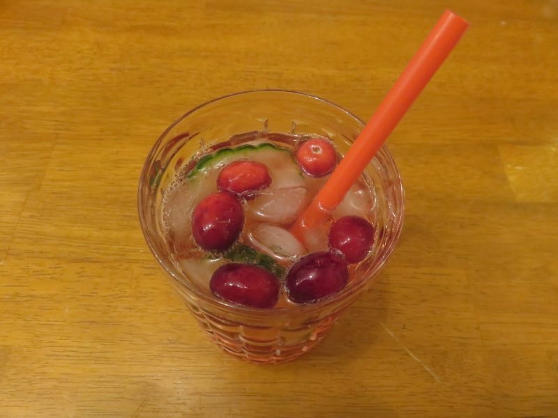 Cranberry Gin Tonic Strohhalm
