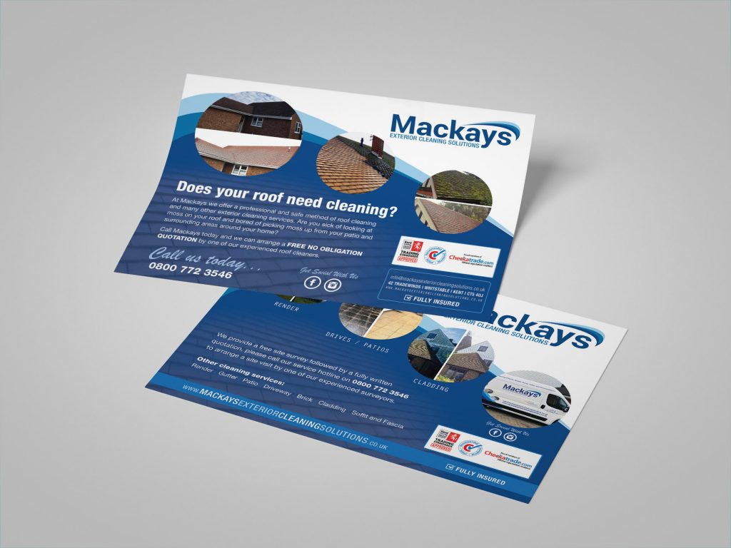 Roof Cleaning Leaflet Design
