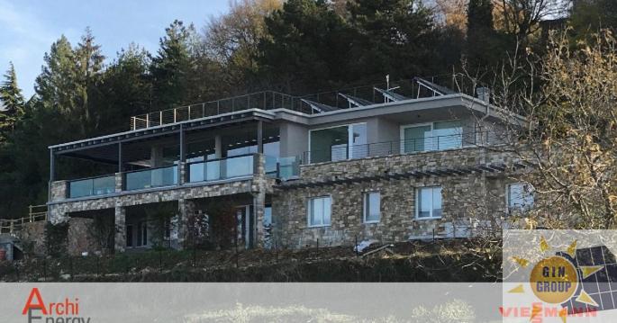 Solo fonti di energia rinnovabile per le due splendide ville sul Lago di Garda