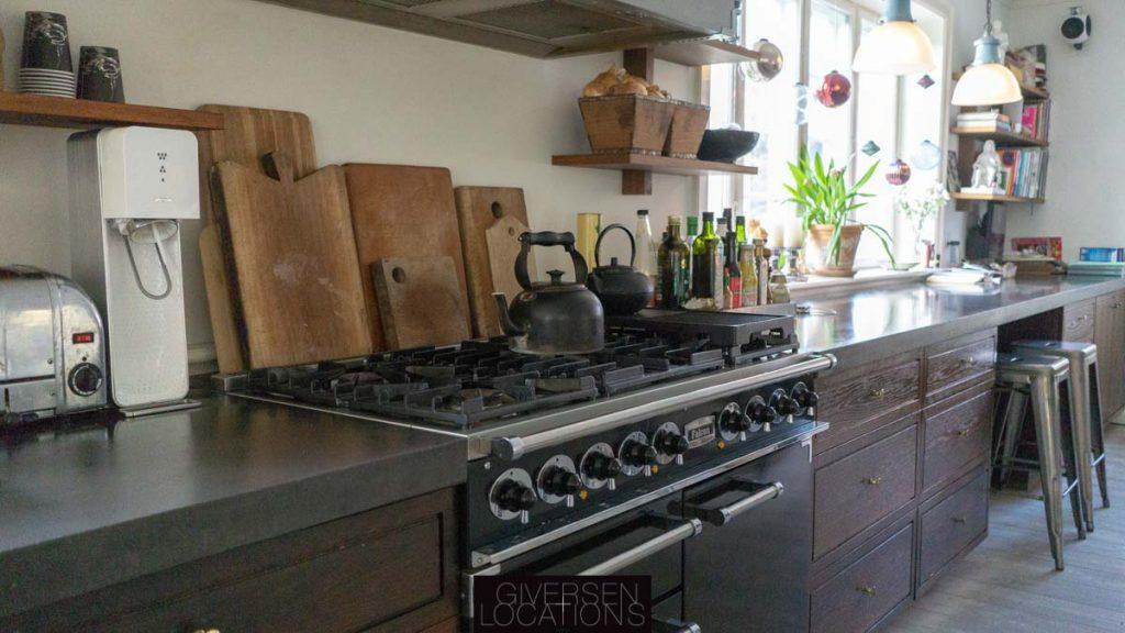 Gaskomfur i lækkert moderne køkken