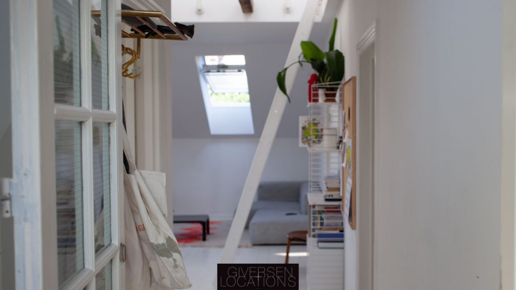 Kig ind i lejlighed med stige