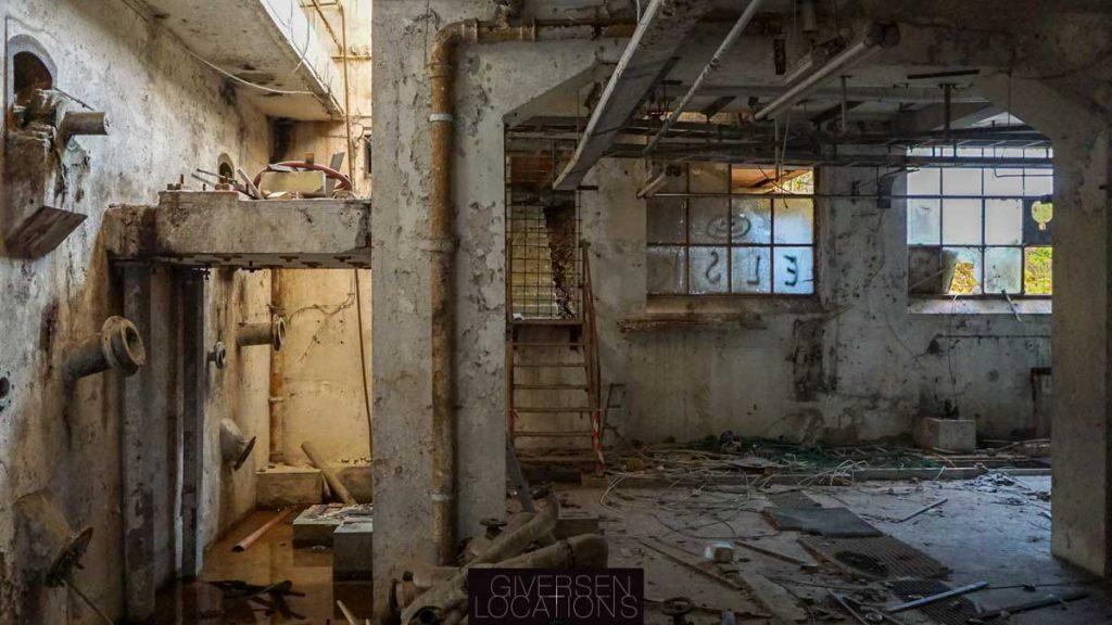 Flot location på gammel fabrik