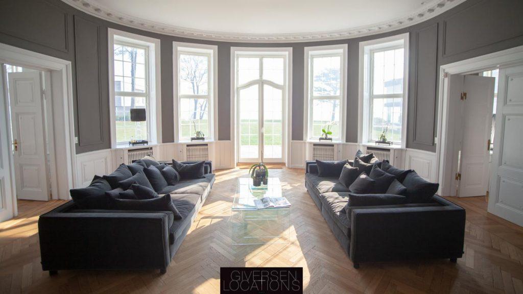 Kig mod Øresund i luksusvilla på Strandvejen som location