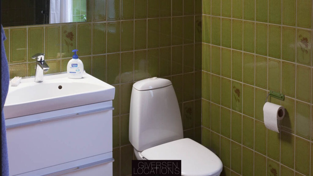 Grønt badeværelse